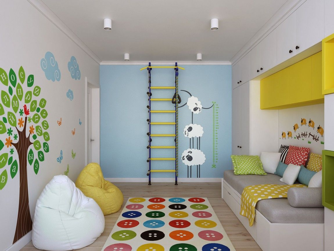 Going Scandinavian In Style Space Savvy Apartment In Moscow Scandinavian Kids Rooms Kids Room Design Colorful Kids Room