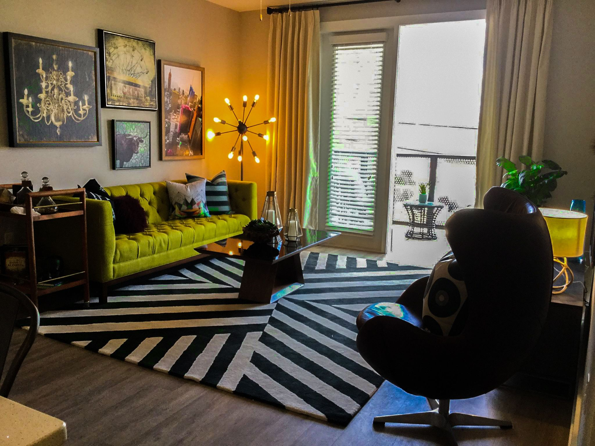 A modern and funky apartment design. Designed by Beasley ...