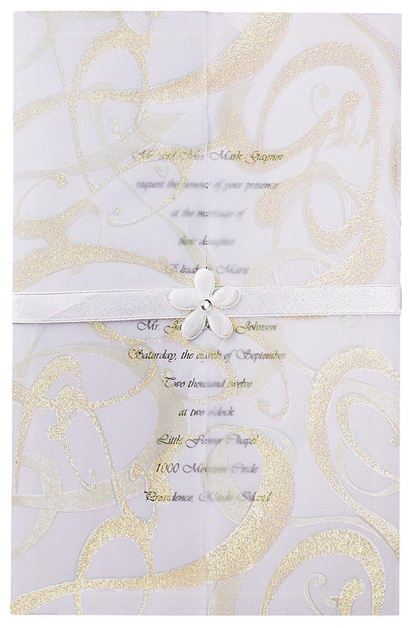 Wilton Glitz and Glamour Wedding Invitation Kit   Wedding ...