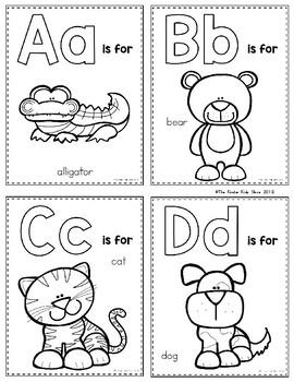 Zoo Animals Alphabet Flash Cards Alphabet Activities Preschool Alphabet Flashcards Animal Alphabet