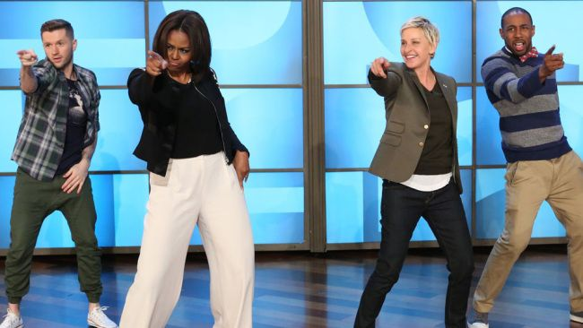 Michelle Obama gets down to Uptown Funk on Ellen, slays | inspiration