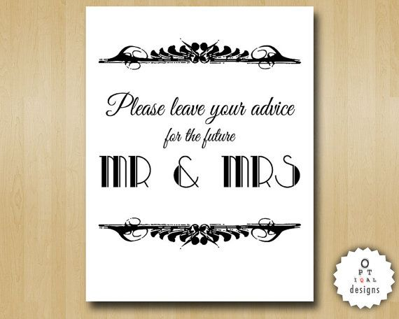 Art Deco Best Wishes for the Mr and Mrs Wishing by OptiqalDesigns, $3.00