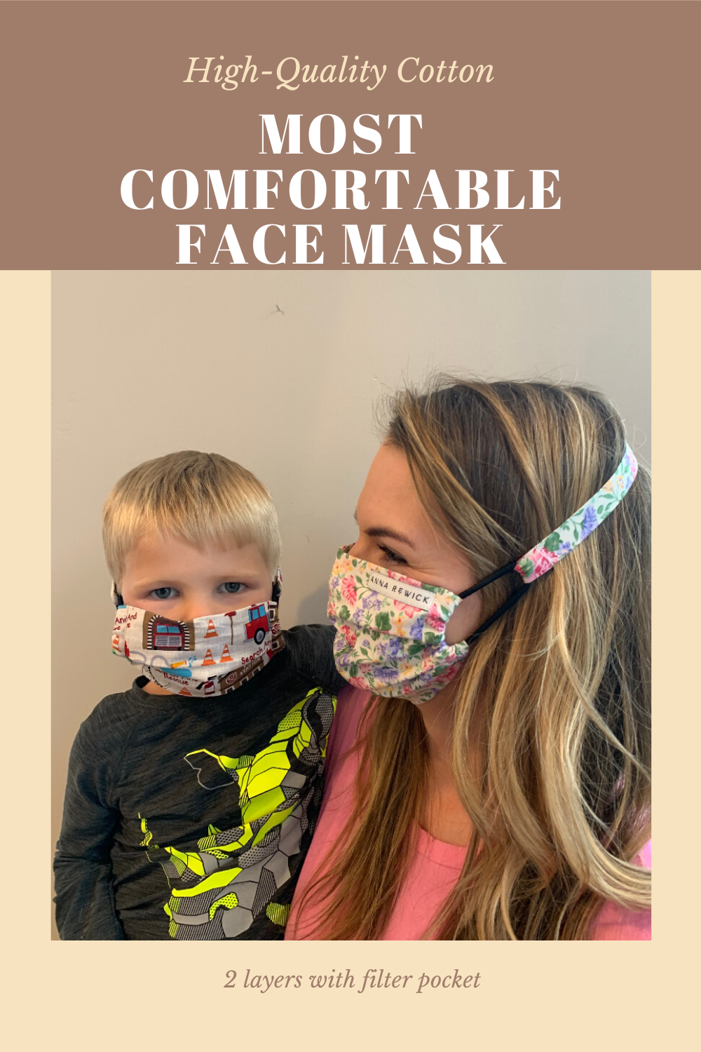 Fully Adjustable Wear all day in 2020 Diy face mask