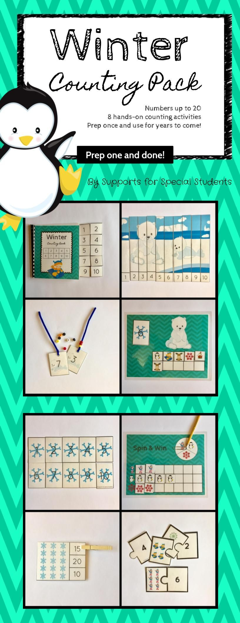 Winter Counting Pack - Hands On Counting Activities for Numbers 1-20 ...