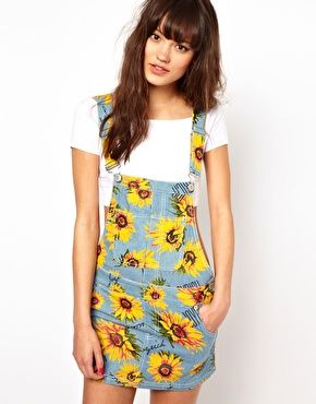 65803b1ffc Joyrich Sunflower Dungaree Dress | Dress List | Dungaree dress ...