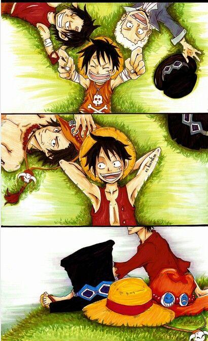Onepiece Luffy Ace ون بيس لوفي ايس سابو One Piece Ace One Piece Luffy One Piece Comic