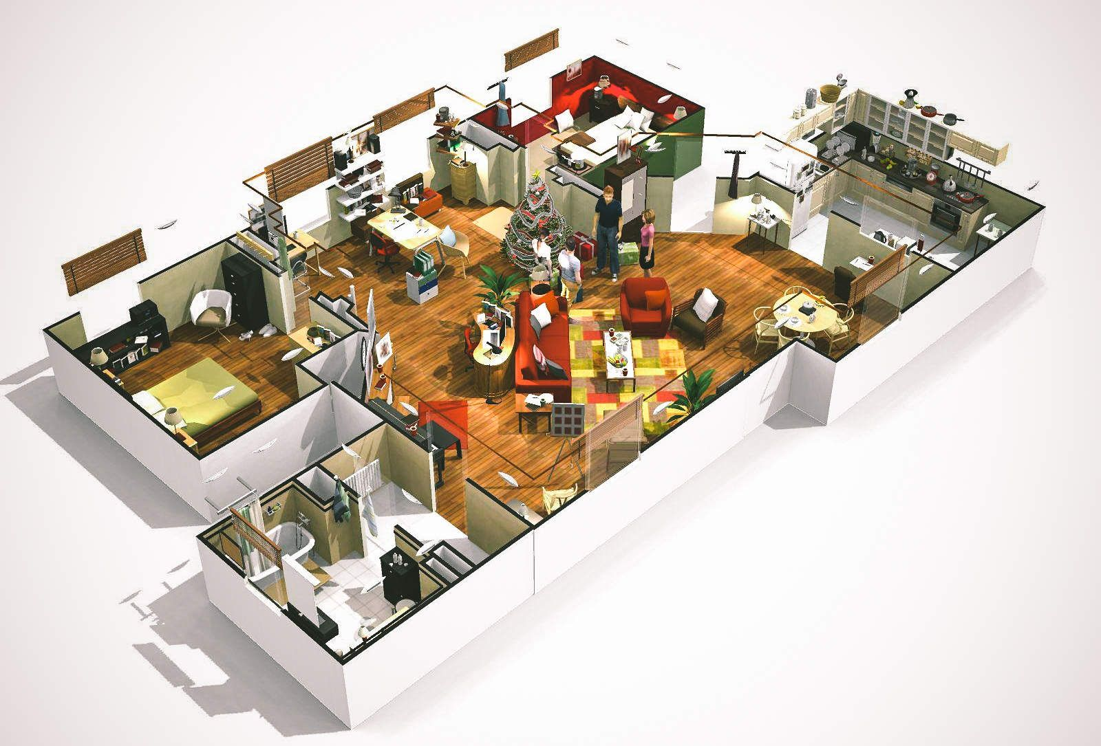 Virtually Tour 3D Floorplans Of Famous TV Shows How I Met Your Mother