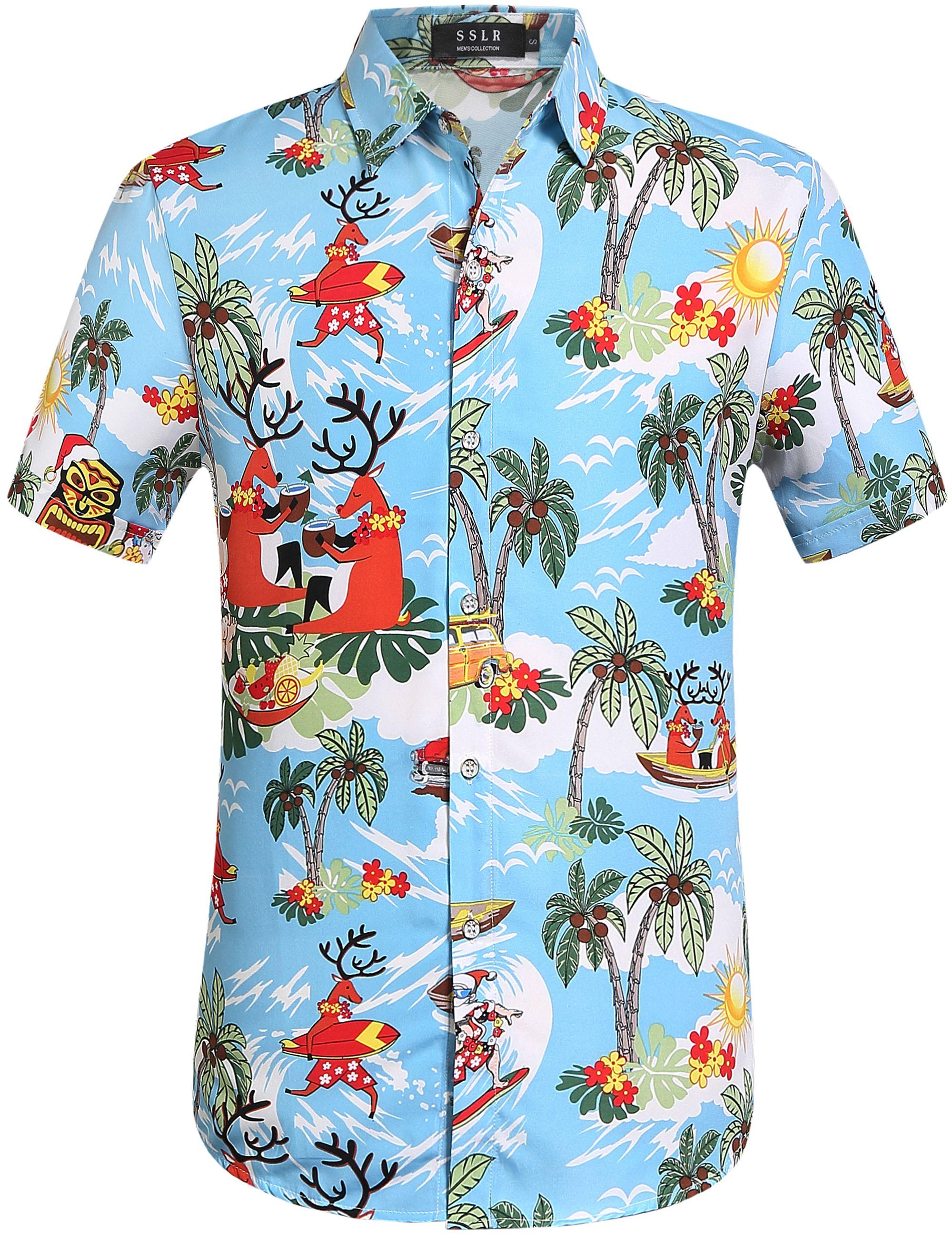 2463dfa68 SSLR Reindeer Hawaiian Shirt #Holiday style #Aloha Shirt #Christmas party