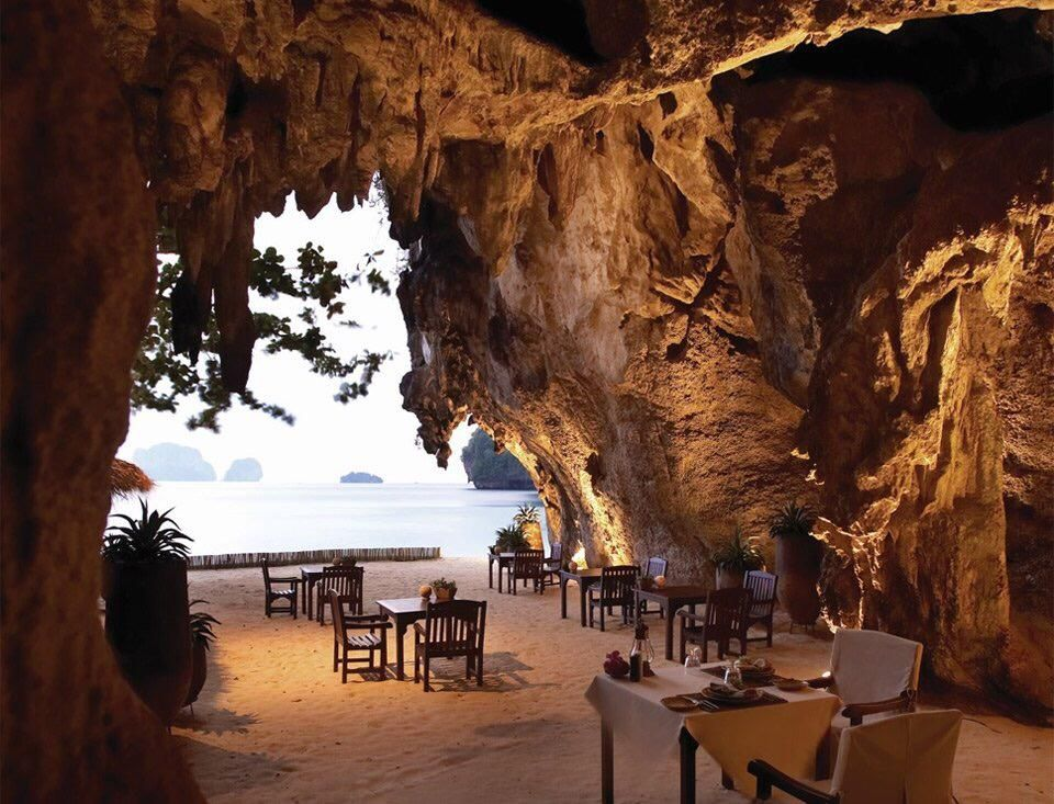 @Piclogy : Restaurant Inside Cave Thailand | Photography by Rayavadee Krabi http://bit.ly/1M6uoxm