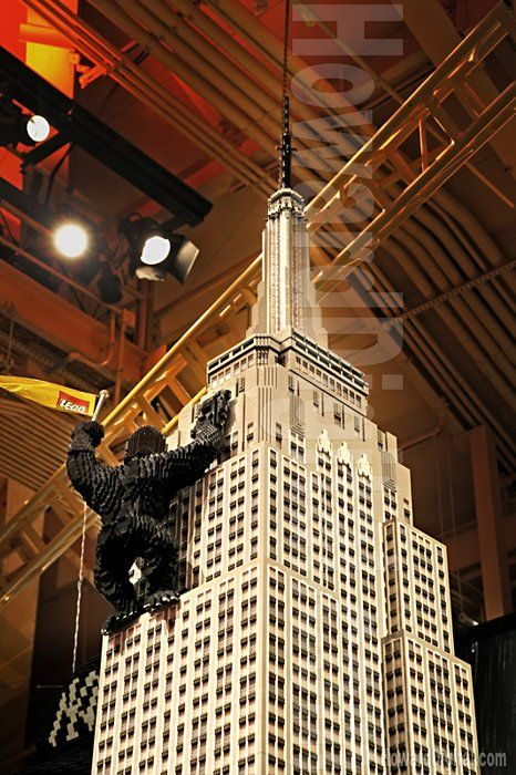 Empire State Building and King Kong in LEGOs  from Howard Digital