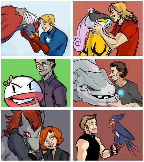 Pokemon and the Avengers