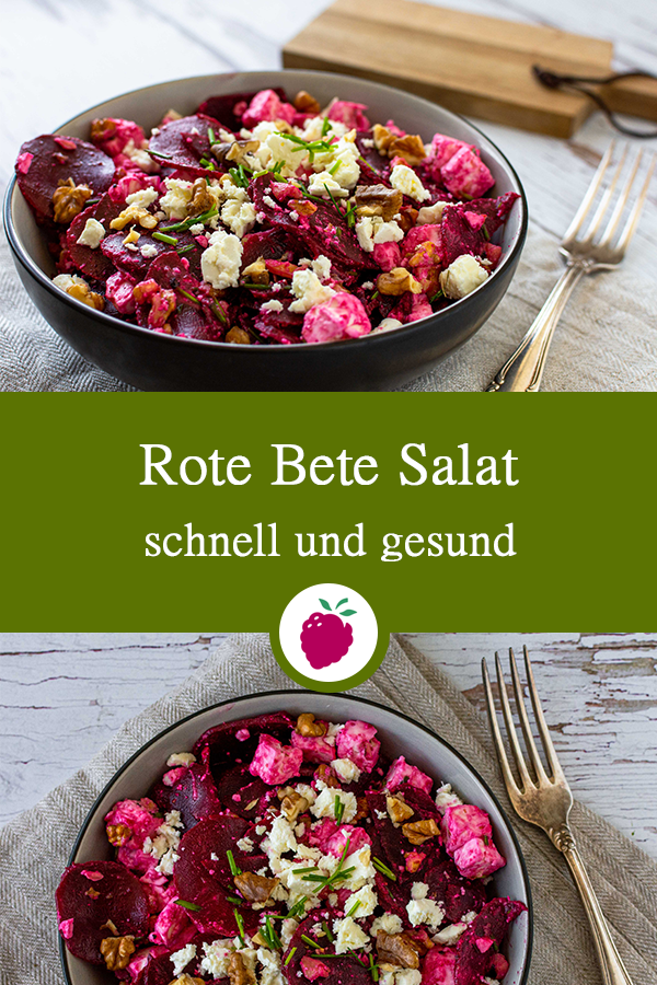 Rote Bete Salat mit Feta  Walnüssen
