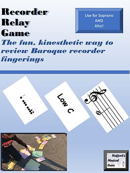 Recorder Fingering Chart Relay  Relay Games Kids Learning And