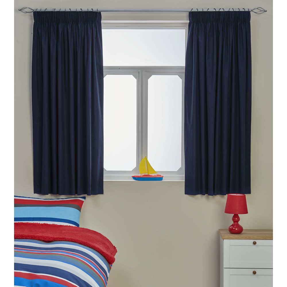 Wilko Blackout Curtains Blue 168x137cm | Wilko | Kid\'s Bedroom ...