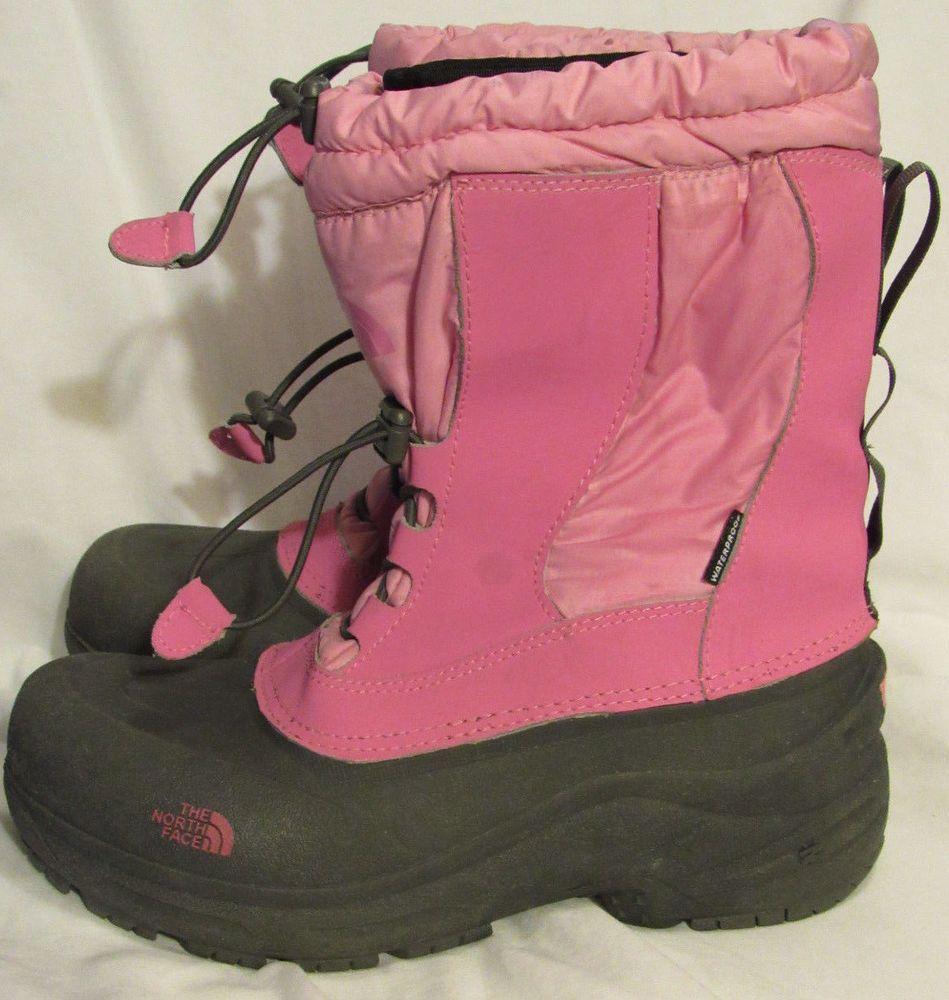 edb81171b The North Face Boots Girls 7 Medium Pink Gray Removable Felt Liner ...