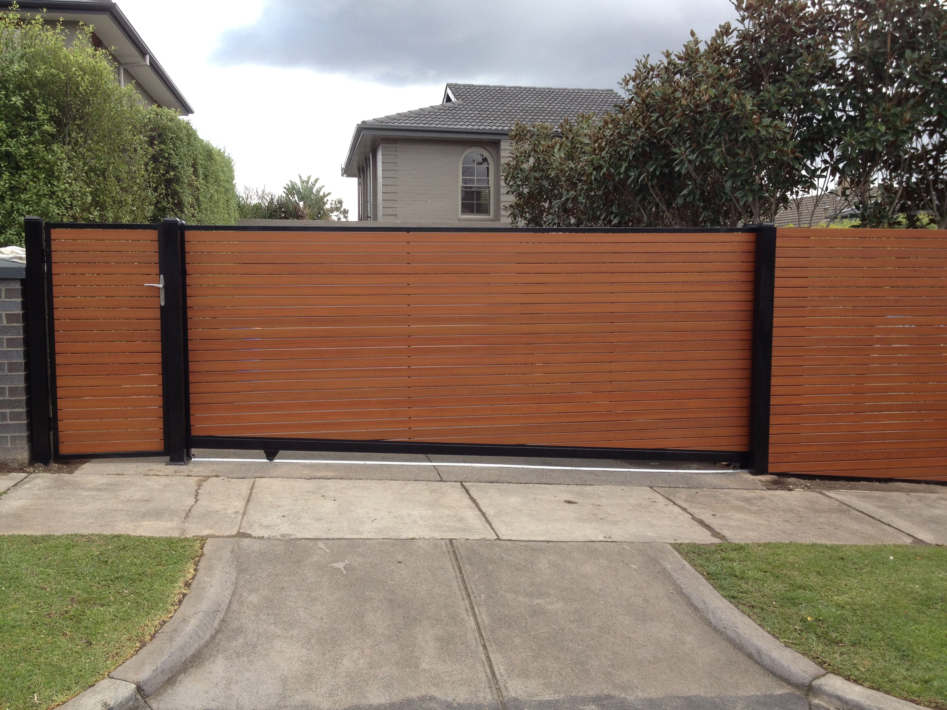 Sliding Gate Google Search Sliding Fence Pinterest