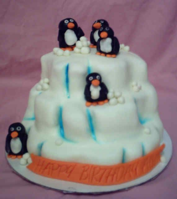 The Biggest Little Especially Likes This Penguin Birthday Cake