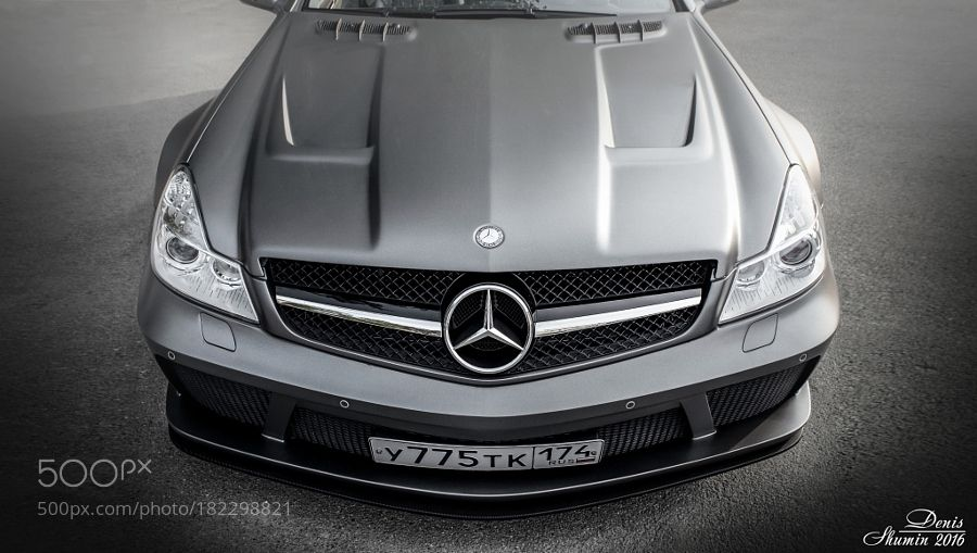 Mercedes-Benz by ShuminDV with automotiveautostreetcartransportationcarsblackgermanymercedesautomobileamgslsbenzsl