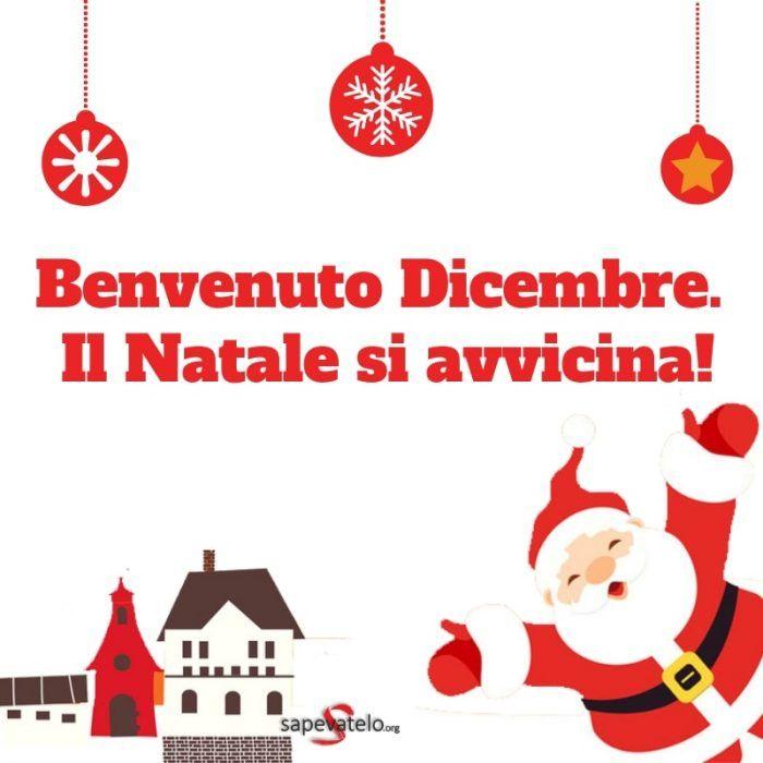 Immagini Natalizie Divertenti Gratis.Benvenuto Dicembre Il Natale Si Avvicina Buon Giorno