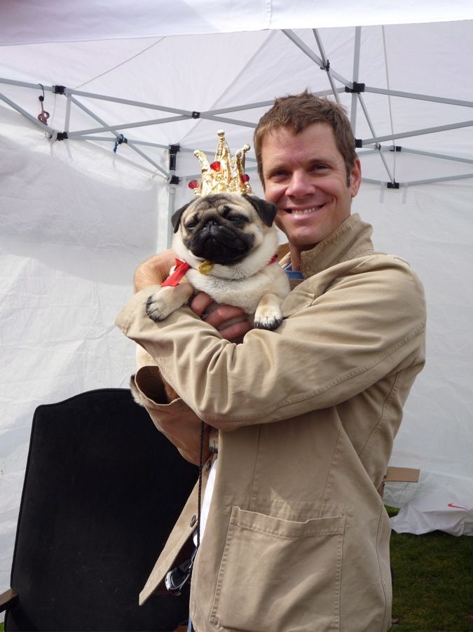 His pug has been crowned king.