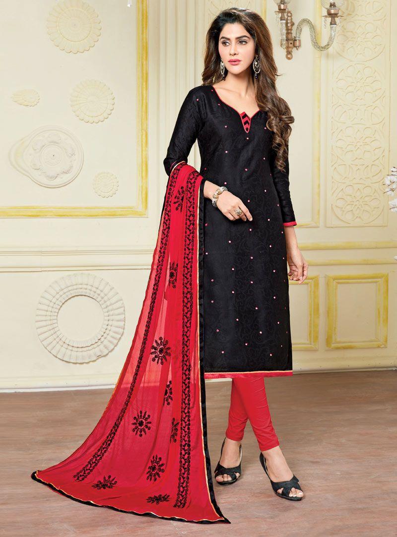 3340d6eb74 Black Banarasi Churidar Salwar Kameez 89990 | hot dress in 2019 ...