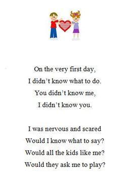 Kindergarten Graduation Poem to perform or include in