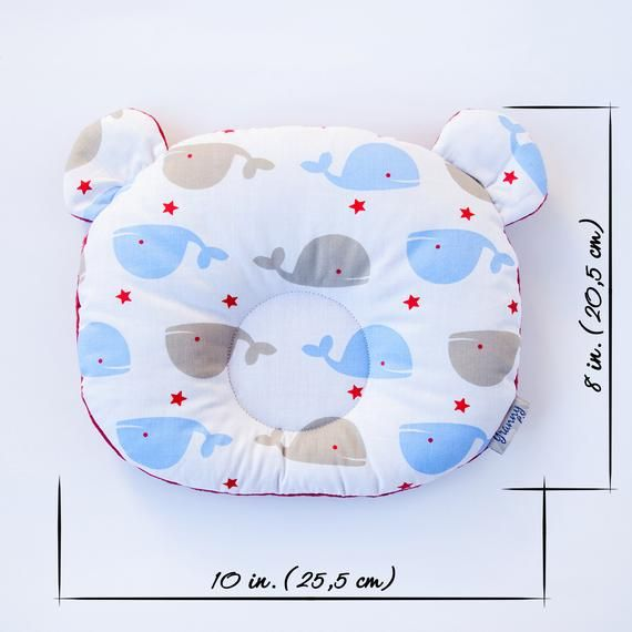 Baby support pillow Safe baby sleeping Pillow with ears Ergonomic pillow Stars print Baby Shower gif