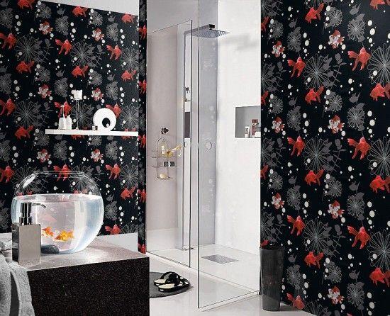 Rasch Tapete Aqua Deco 817508 Schwarz Tapeten Badezimmer Tapete Tapeten Gunstig