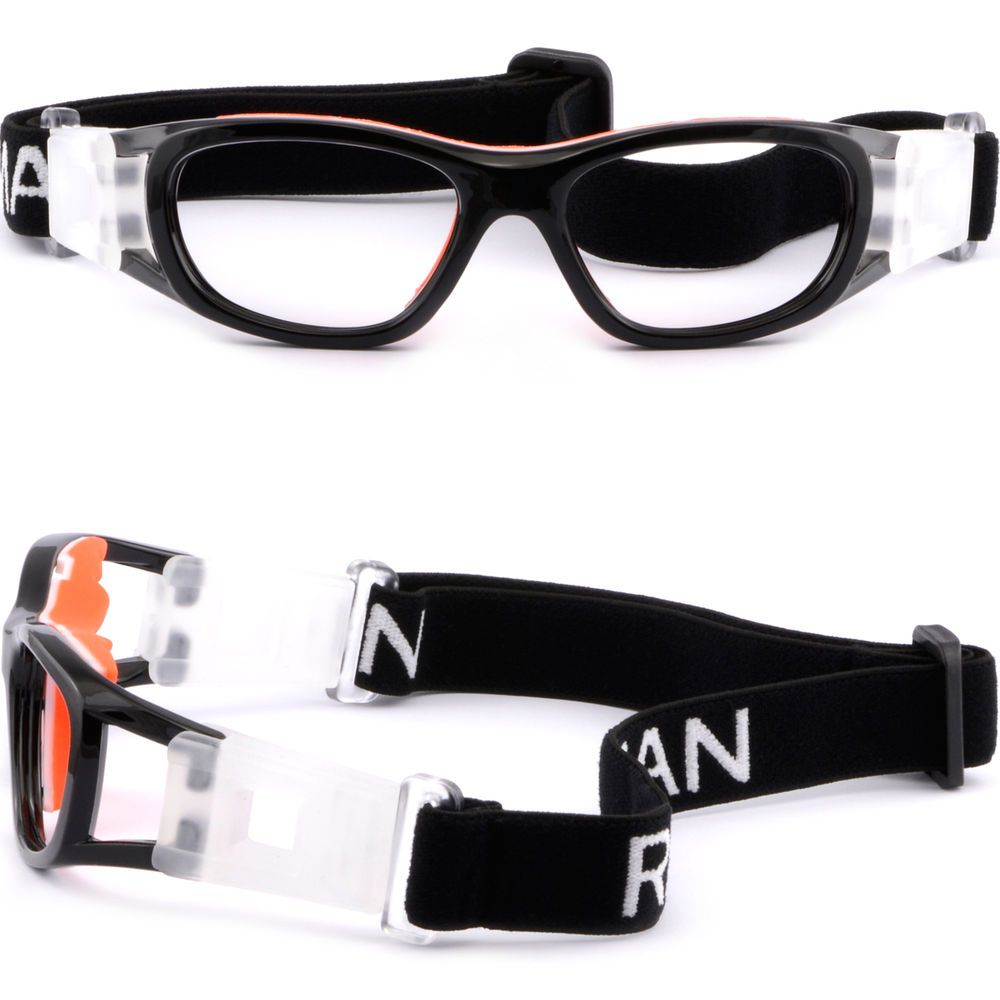 148aa90857d Kids Sports Protection Goggles Prescription Glasses Wrap Around Straps Black