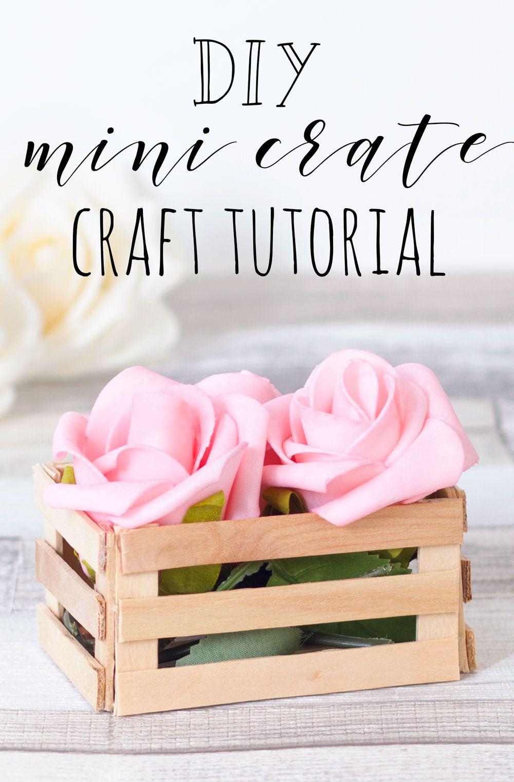 Mar 17 DIY Lolly Stick Mini Crate   crafts   Pinterest   Desk tidy ...