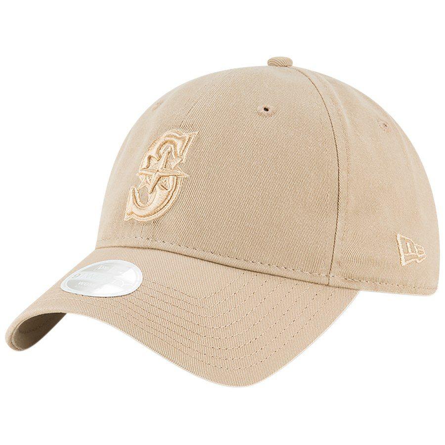 Women s Seattle Mariners New Era Brown Core Classic Twill 9TWENTY Camel  Adjustable Hat e24fba8606
