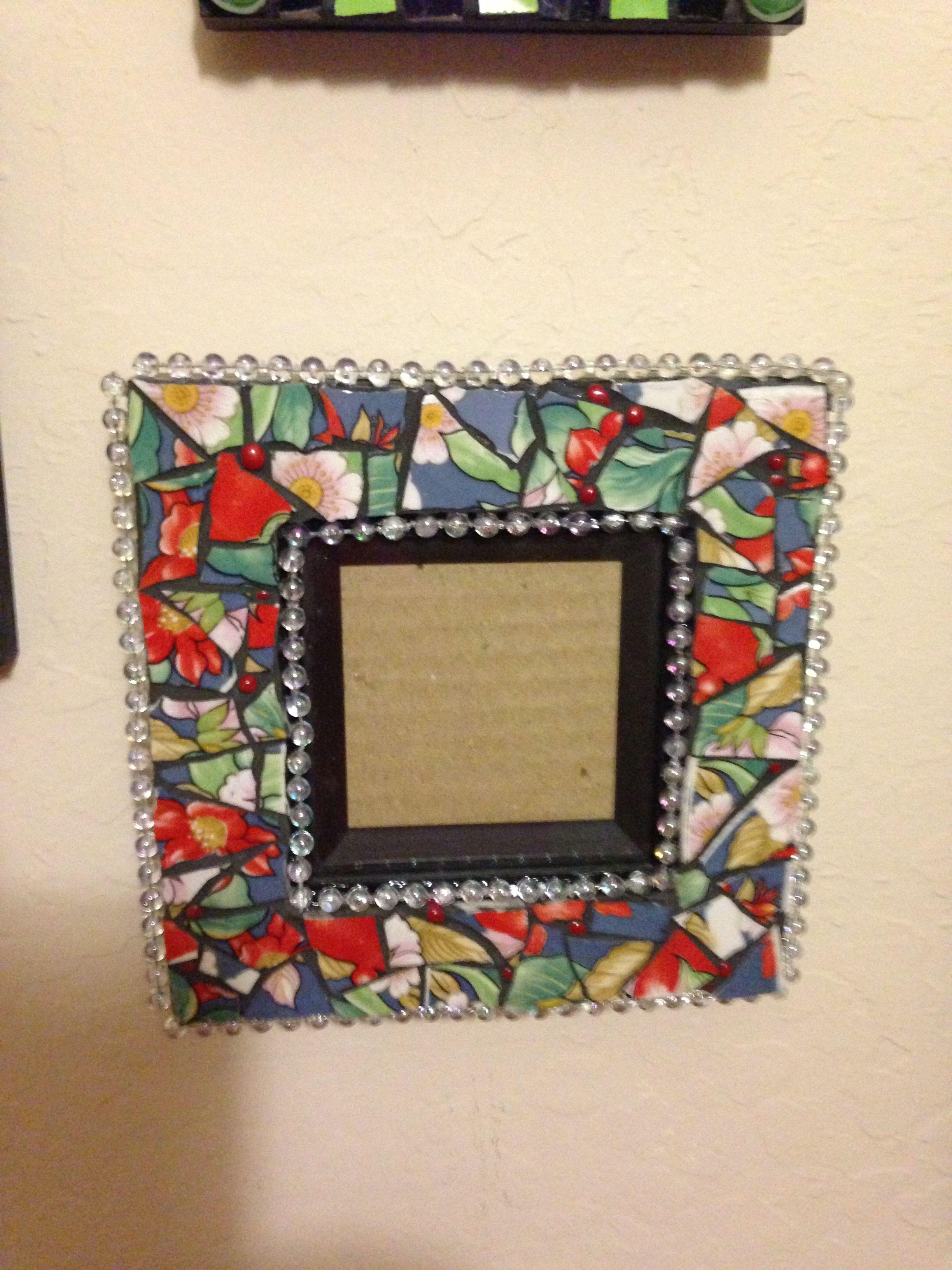 Mosaic frame @Lori Bearden Farris Putze-Parsons   Mosaic Frames and ...
