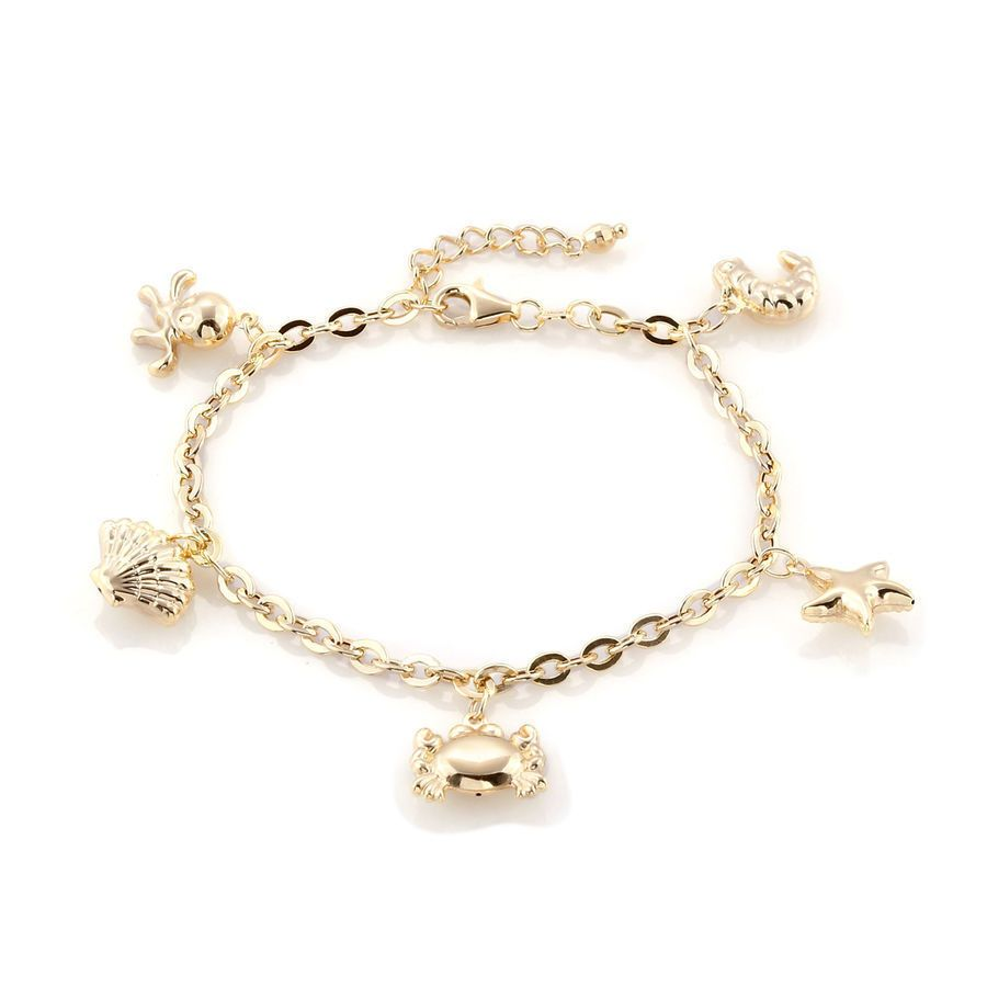 Tjc chain bracelet in ct gold for women inch extender inches