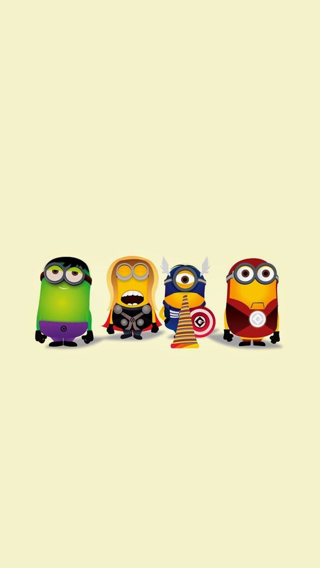 The hulk captain america thor and iron man as minions - Superhero iphone wallpaper hd ...