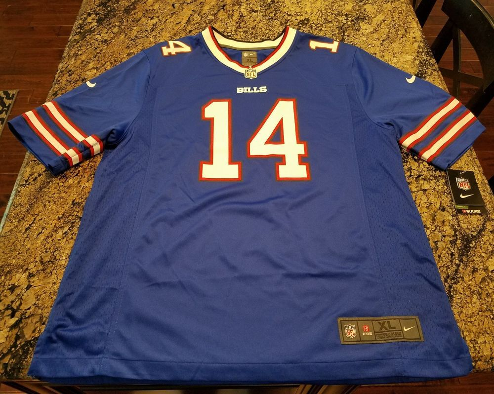 new style 56060 d8a67 Nike buffalo bills nfl sammy watkins game jersey blue/red ...