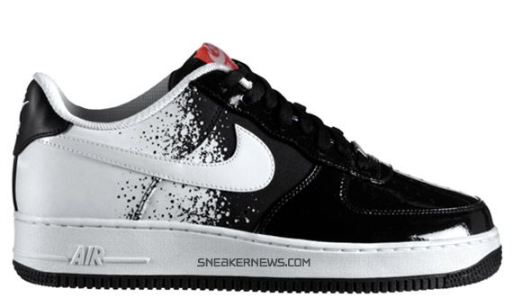 Nike Air Force 1 Black/White-Hot Red