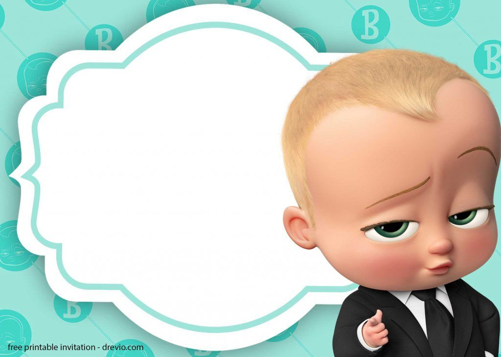 Baby Boss Invitation Template For Your Adorable Little Boss Boss