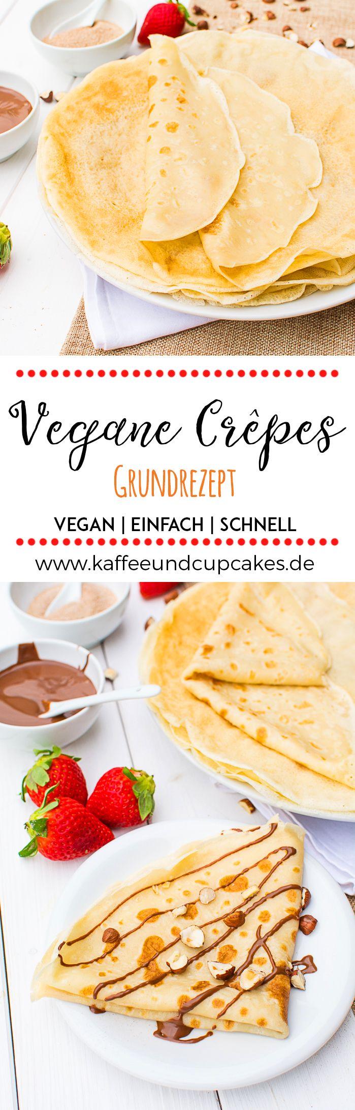 Vegane Crêpes: Grundrezept #cupcakesrezepte