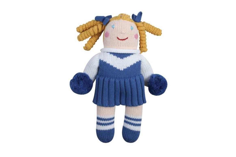 Knit Cheerleader Doll Royal Blue Amp White