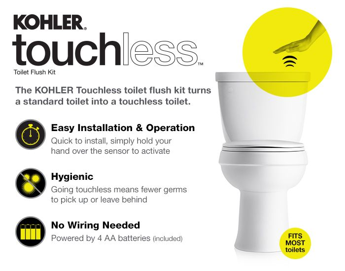 Kohler Touchless Flush Kit Credit To You Channel Whatsupmom Great Idea For Potty Training