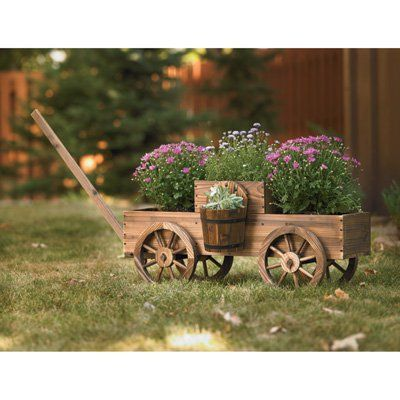 Stonegate Designs 2 Tiered Wooden Wagon Planter Model T 15n354mb Wooden Wagon Wagon Planter Garden Planters