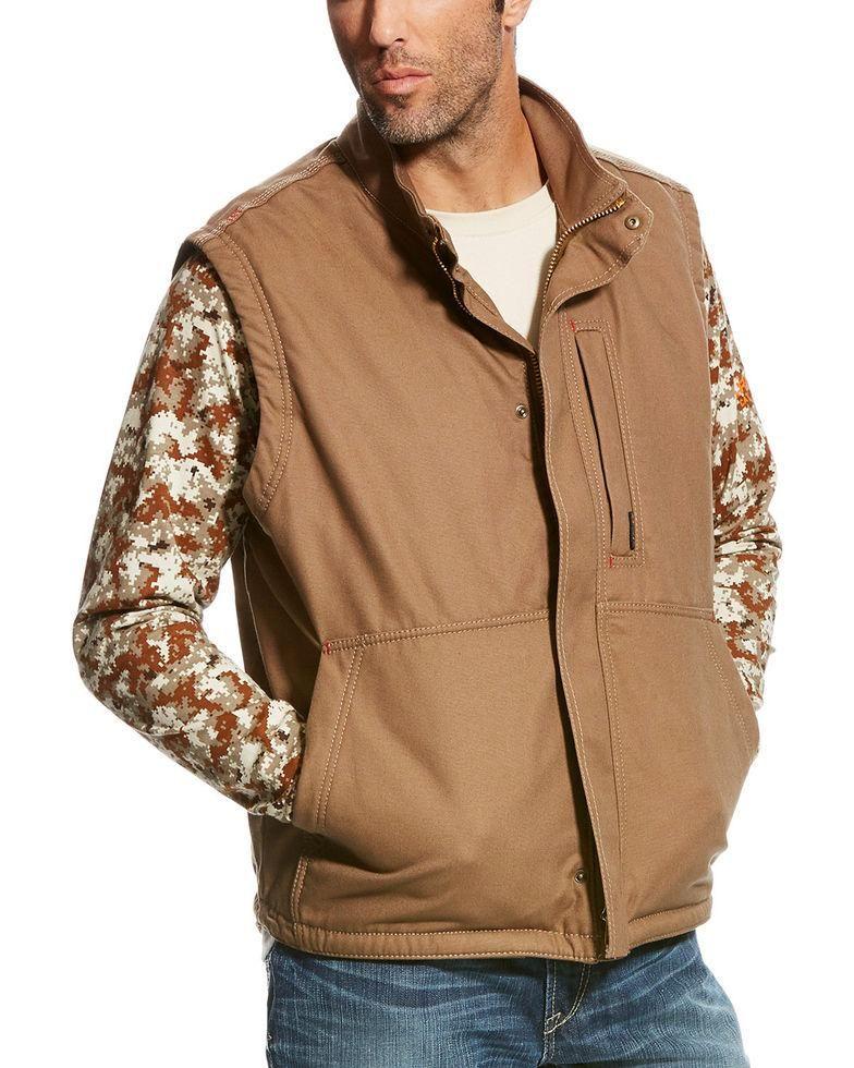 CLEARANCE Ariat Men's Field Beige/Khaki FR Workhorse Vest