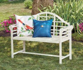 Wilson Fisher White Jasmine Metal Garden Bench With Images