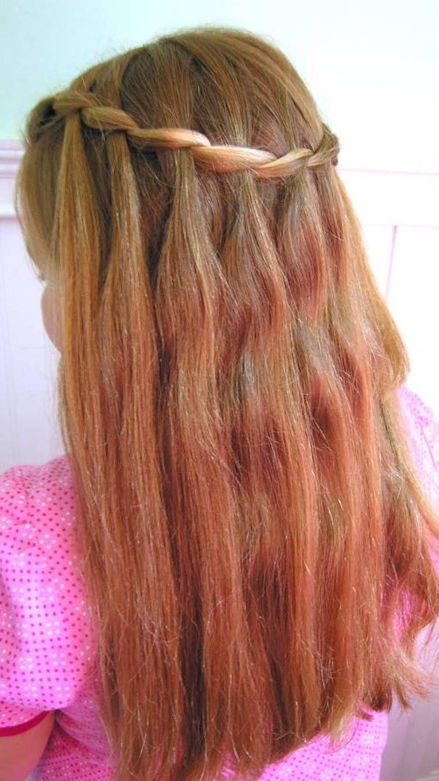 Kids Little Girl Hair Braid Waterfall