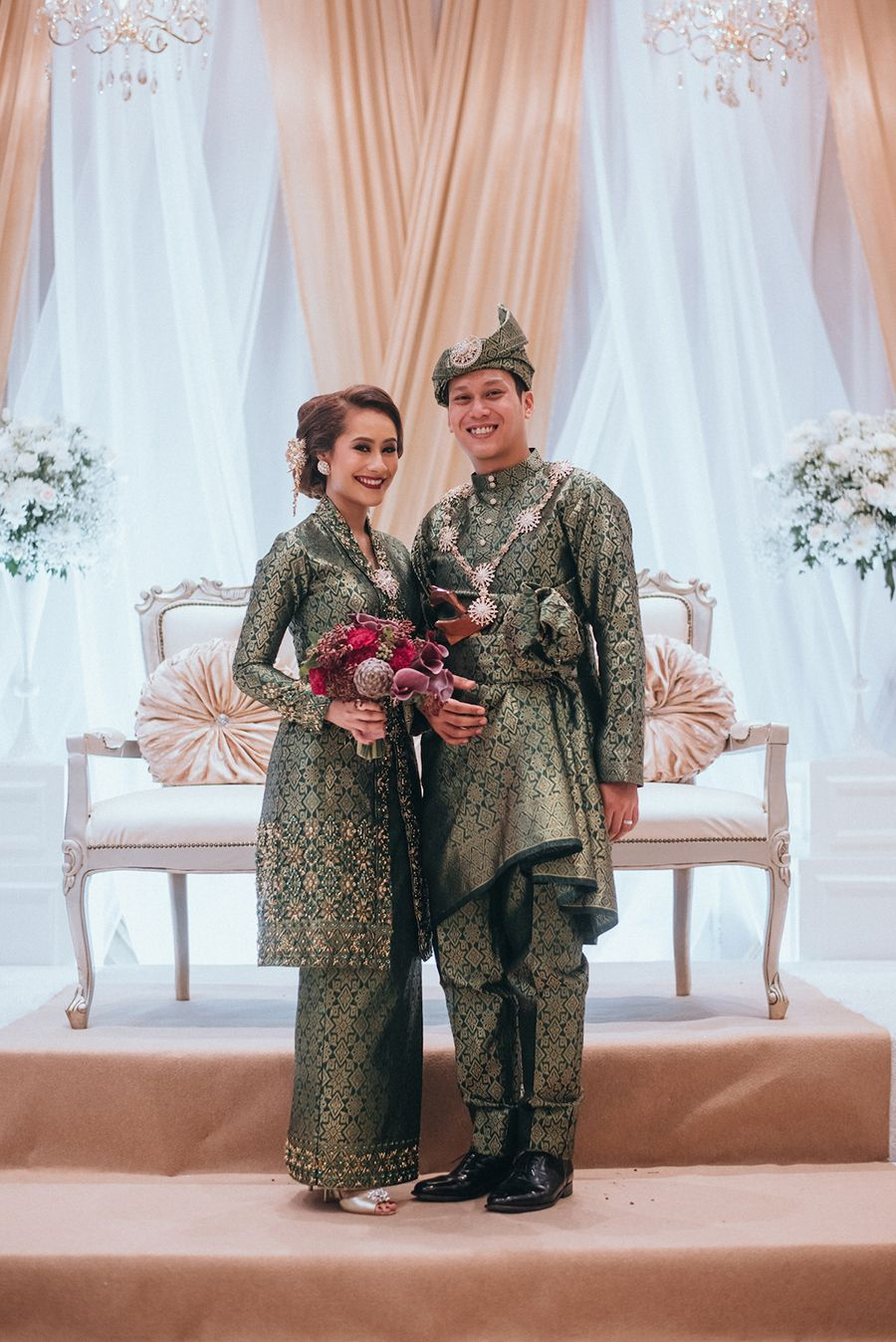 Razif and Sarah's Wedding at The Grassroots' Club | Green wedding dresses,  Traditional wedding attire, Minimal wedding dress