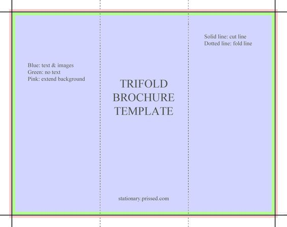 Image result for free printable tri fold brochure templates - free leaflet template word