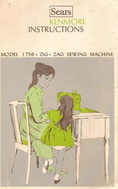 Sears Kenmore Model 158 17560 Zig Zag Instruction And Owners Manual Cove Sewing Machine Instruction Manuals Sewing Machine Instructions Sewing Machine Manuals