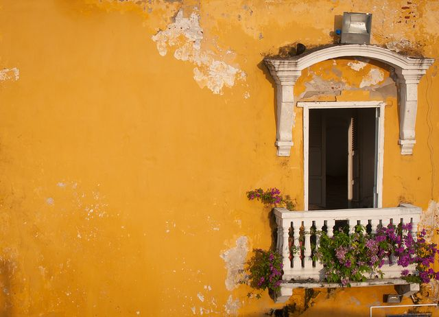 A lovely building in Cartagena, Colombia. The whole city is just glowing with life.
