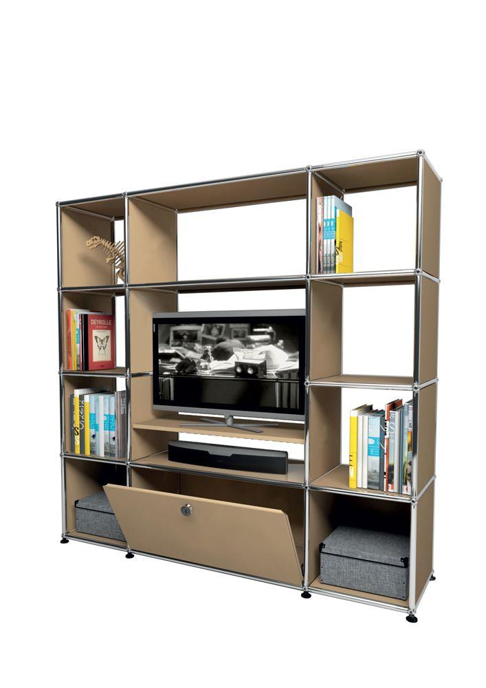 USM Modular Furniture Media Beige Meuble USM Haller TV Beige
