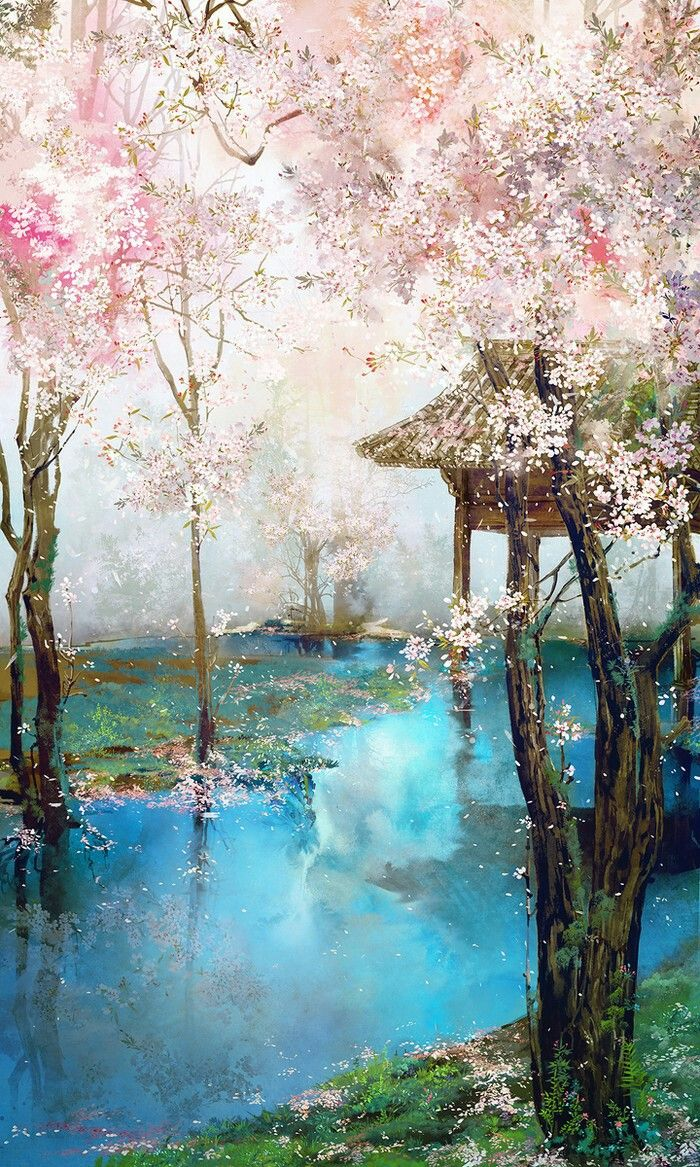 Spring In Japan (With images) Japanese art, Asian art